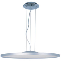 Moonbeam LED 28 inch Metallic Silver Single Pendant Ceiling Light