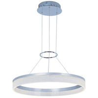 ET2 E22453-11MS Saturn LED 24 inch Metallic Silver Single Pendant Ceiling Light