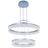Saturn LED 24 inch Metallic Silver Single Pendant Ceiling Light