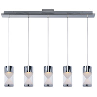 ET2 Tyme 5 Light Island Pendant in Polished Chrome E22467-75PC