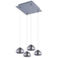 Vive 4 Light 11 inch Polished Chrome Multi-Light Pendant Ceiling Light
