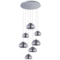 Vive LED 17 inch Polished Chrome Multi-Light Pendant Ceiling Light