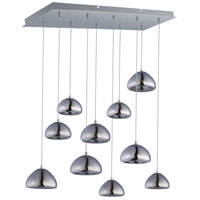 ET2 Vive 10 Light LED Linear Pendant in Polished Chrome E22528-81PC