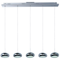 Dial 5 Light 34 inch Polished Chrome Linear Pendant Ceiling Light
