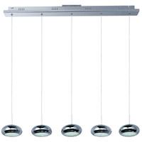 ET2 E22555-PC Dial 5 Light 34 inch Polished Chrome Linear Pendant Ceiling Light
