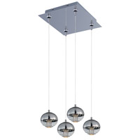 Zing 4 Light 12 inch Polished Chrome Multi-Light Pendant Ceiling Light