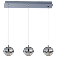 Zing 3 Light 25 inch Polished Chrome Linear Pendant Ceiling Light