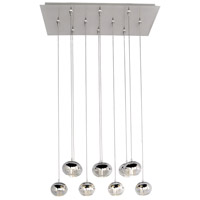 Zing 10 Light 32 inch Polished Chrome Multi-Light Pendant Ceiling Light