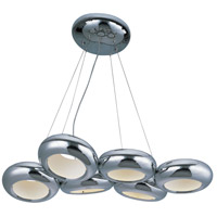 Donuts LED 18 inch Polished Chrome Chandelier Ceiling Light