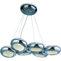 ET2 E22596-PC Donuts LED 18 inch Polished Chrome Chandelier Ceiling Light