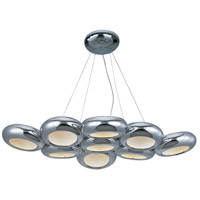 Donuts LED 29 inch Polished Chrome Chandelier Ceiling Light