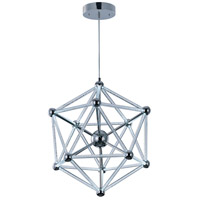 ET2 Polygon 60 Light Single Pendant in Polished Chrome E22614-91PC