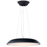 ET2 E22624-BK Dimple LED 24 inch Black Single Pendant Ceiling Light