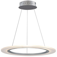 Saturn II LED 24 inch Matte Silver Entry Foyer Pendant Ceiling Light