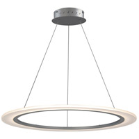 Saturn II LED 32 inch Matte Silver Entry Foyer Pendant Ceiling Light