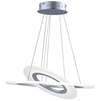 Saturn II LED 24 inch Matte Silver Multi-Light Pendant Ceiling Light