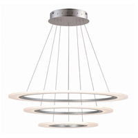 Saturn II LED LED 32 inch Matte Silver Multi-Light Pendant Ceiling Light
