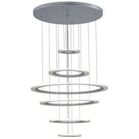 ET2 E22664-11MS Saturn II LED 30 inch Matte Silver Multi-Light Pendant Ceiling Light