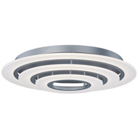 ET2 E22667-11MS Saturn II LED 32 inch Matte Silver Flush Mount Ceiling Light