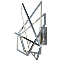 Trapezoid LED 20 inch Polished Chrome Wall Sconce Wall Light
