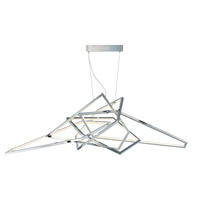 Trapezoid LED 53 inch Polished Chrome Single Pendant Ceiling Light