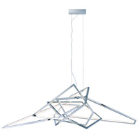 ET2 E22679-PC Trapezoid LED 66 inch Polished Chrome Single Pendant Ceiling Light