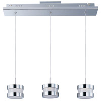 Disco 3 Light 21 inch Polished Chrome Linear Pendant Ceiling Light