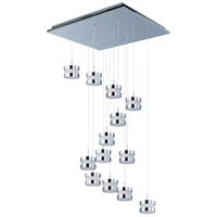 Disco 13 Light 26 inch Polished Chrome Multi-Light Pendant Ceiling Light