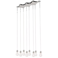 Edison 8 Light 33 inch Polished Chrome Linear Pendant Ceiling Light