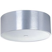 Percussion 3 Light 16 inch Polished Chrome Flush Mount Ceiling Light