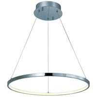 ET2 E22713-PC Hoops Led LED 24 inch Polished Chrome Pendant Ceiling Light