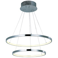 ET2 E22714-PC Hoops Led LED 24 inch Polished Chrome Pendant Ceiling Light
