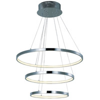 Hoops LED LED 24 inch Polished Chrome Pendant Ceiling Light