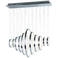 ET2 Lighting Hoops LED 11 Light Linear Pendant in Polished Chrome E22716-PC
