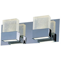 ET2 E22752-89PC Fizz III LED 15 inch Polished Chrome Bath Vanity Wall Light in Etched, 14.5 in.,  2 Light