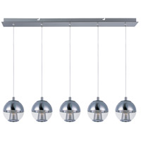 ET2 Reflex 5 Light Island Pendant in Polished Chrome E22785-81PC