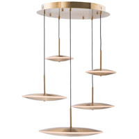 ET2 E22827-SBR Cymbals LED 26 inch Satin Brass Suspension Pendant Ceiling Light