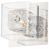 ET2 E22830-18PCPC Gem 1 Light 5 inch Polished Chrome Wall Sconce Wall Light in 26.5 in