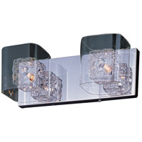 Gem 2 Light 15 inch Polished Chrome Bath Light Wall Light in 14.5 in.