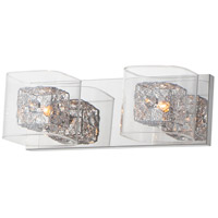 ET2 Lighting Gem 2 Light Vanity Light in Polished Chrome E22832-18PCPC