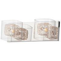 Gem 2 Light 15 inch Polished Chrome Vanity Light Wall Light