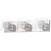 ET2 E22833-18PCPC Gem 3 Light 22 inch Polished Chrome Vanity Light Wall Light