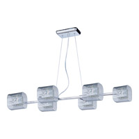 ET2 Gem 6 Light Linear Pendant in Polished Chrome E22837-18SVPC