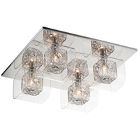 Gem 4 Light 17 inch Polished Chrome Flush Mount Ceiling Light in 26.5 in