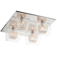 ET2 Gem 4 Light Flush Mount in Polished Chrome E22838-18SVPC