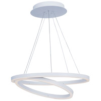ET2 Lighting Cirque 1 Light Pendant in Matte White E22847-MW