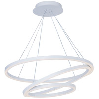 ET2 Lighting Cirque 1 Light Foyer Pendant in Matte White E22848-MW