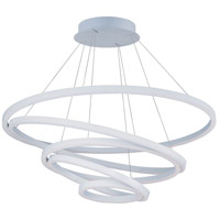ET2 Lighting Cirque 1 Light Foyer Pendant in Matte White E22849-MW