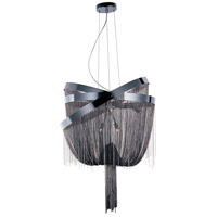 Mystic 8 Light 24 inch Black Chrome Pendant Ceiling Light