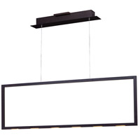 Rhombus LED 44 inch Bronze Linear Pendant Ceiling Light